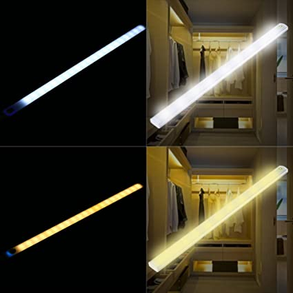mode night cabinet sensor car bedroom motion strips battery warm with operated led flexible dual light product white closet for