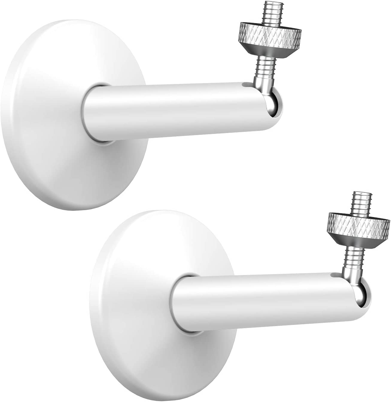 Arlo Mount, KIWI design Adjustable Security Wall Mount Aluminium Alloy Indoor/Outdoor Mount for Arlo, Arlo Pro, Arlo Pro 2, Arlo Ultra & Other Camera Models with 1/4 Inch Thread (2Pack, White)