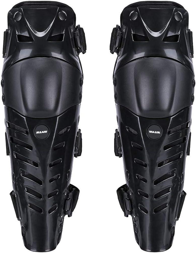Yuanu Adultes Moto Genouill/ère Flexible Confortable Protege Genoux pour Outdoor Cyclisme Patinage Moto Extr/êmes Sports
