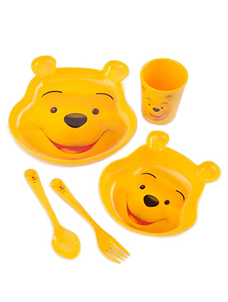 Disney Winnie the Pooh Dinnerware Set 5 pc for Kids  sc 1 st  Amazon.com & Amazon.com: Disney Winnie the Pooh Dinnerware Set 5 pc for Kids ...