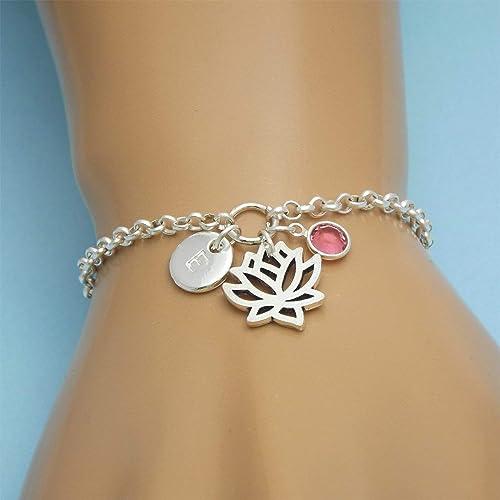 vsco bracelet silver lotus flower beaded bracelet Lotus flower beaded bracelet macrame adjustable bracelet
