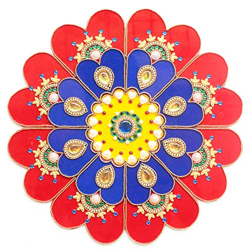 9 Piece Floor/Wall / Table Decor Accents - Acrylic Handmade Mandala Rangoli Home Decorations