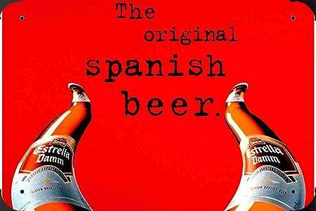 Estrella Damm Beer Spain  PUB BAR METAL TIN SIGN POSTER WALL PLAQUE