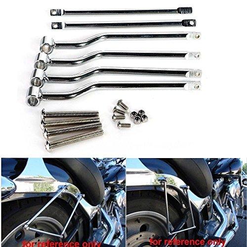 Ace Chrome Saddlebag - Triclicks Chrome Saddlebag Support Bar Fits Honda Rebel CMX 250 Shadow ACE VT750 400