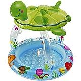 Intex 57119 - Piscina Baby Tartaruga, 102 x 107 cm, Trasparente/Verde