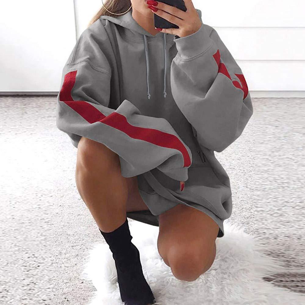 Amazon.com: Fashion Womens Patchwork,KIKOY Loose Hoodies Pullover Coat Hoody Sweatshirt: Clothing