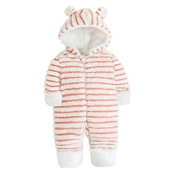 QSEFT: bebé recién Nacido Invierno cálido Pelele bebé Rayas Coral ...