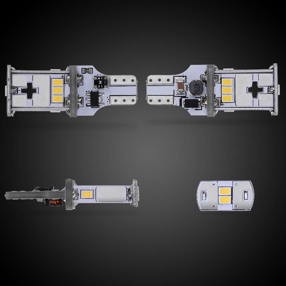 Canbus Error Free T15 906 W16W 921 LED Replacement Bulb for Back Up//Backup Lights YITAMOTOR 921 912 LED Reverse Light Bulb White DC10V-16V Extremely Bright 3020 SMD 2000 Lumens 6000K Xenon White