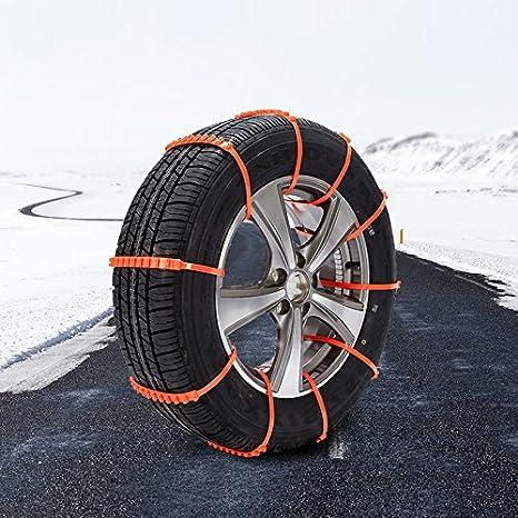 KIMISS 10 St/ück Reifen Ketten Auto Sicherheitsketten Fahrzeug Anti Slip Schneekette Sicherheit