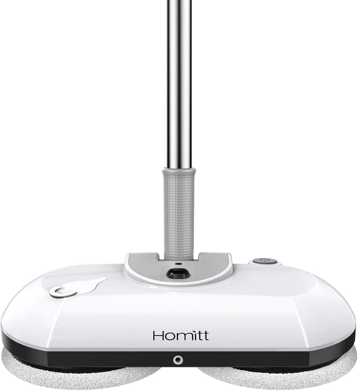Homitt Electric Mop, Cordless Floor Scrubber for Floor Cleaning, Power Cordless Mop with Extension Handle, Electric Spin Mop with 4 Reusable Mop Pads