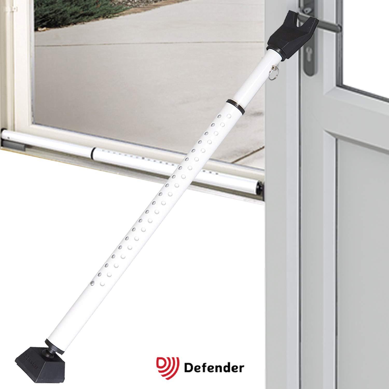 Non Slip Telescopic Locking Pole for Doors Jammer for French Doors Sliders Adjustable Security Bar Door Brace