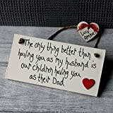 MadeAt94 Husband Gifts From Wife Children For Birthday Father's Day With RED HEART Sign