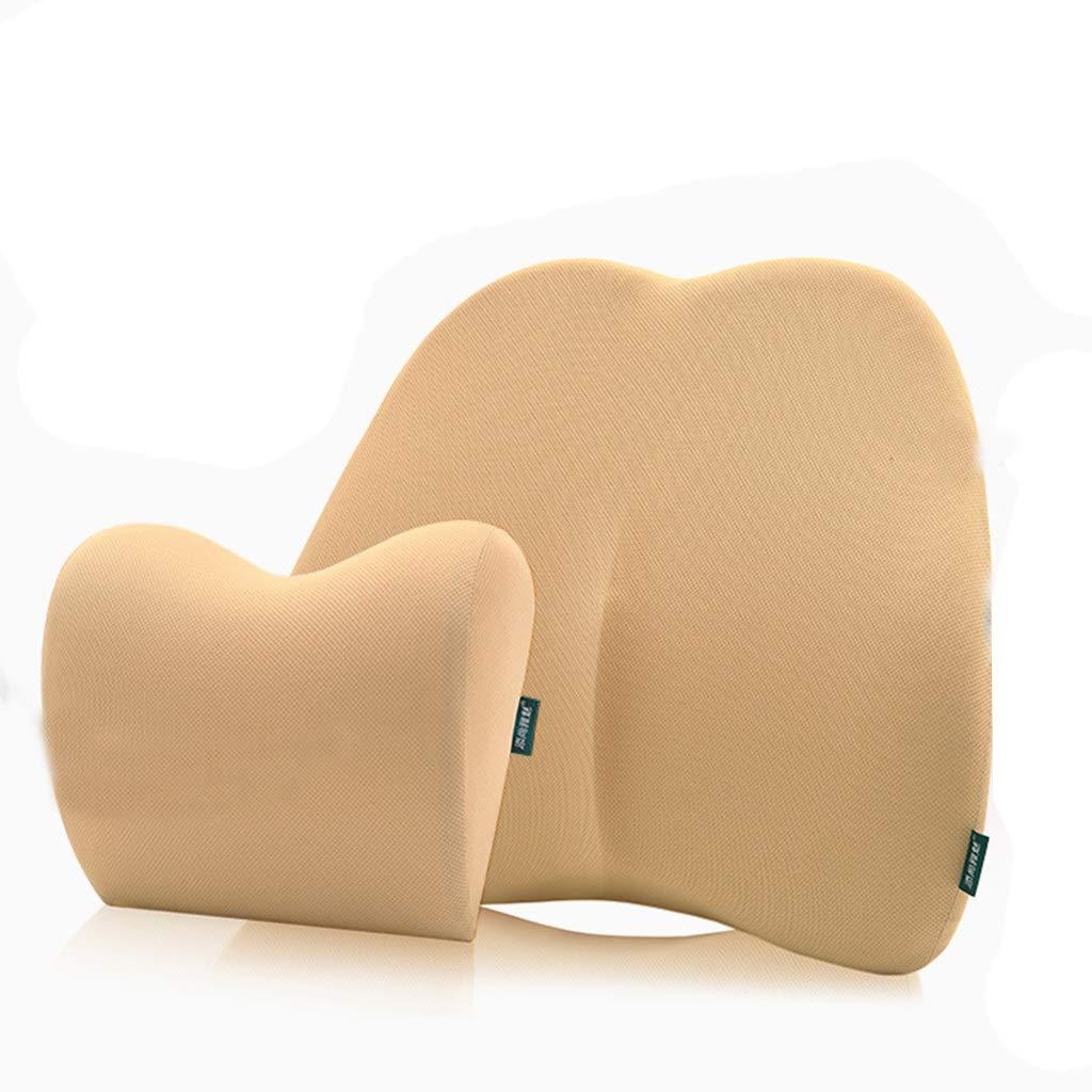 Seat Cushion Headrest Set, Memory Reclining Car Cushion Pillow Patio Chair Swing Chair Wheelchair Seat