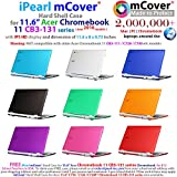 iPearl mCover Hard Shell Case for new 2016 11.6 Acer Chromebook 11 CB3-131 series with IPS HD display ( NOT compatible with older Acer CB3-111 series ) Laptop (PINK)