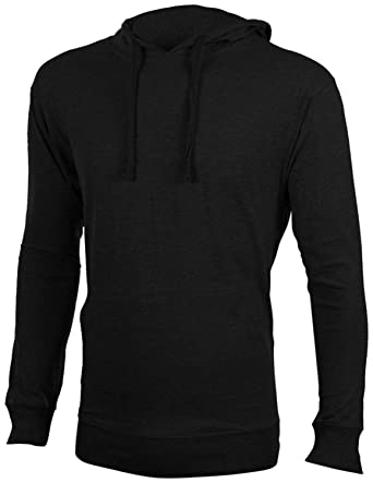 1178412e Enimay Men's Henley Raglan T-Shirt Casual Pullover Long Sleeve Hoodie Black  Size Small