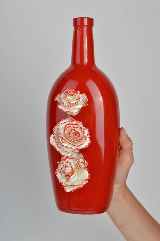Florero decorativo hecho a mano botella de vidrio regalo original para amiga: Amazon.es: Hogar