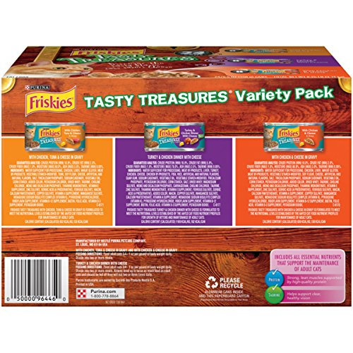 Purina Friskies Tasty Treasures Variety Pack Cat Food - (24) 8.25 lb. Box