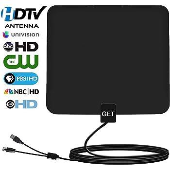 GET -Amplified HDTV Antenna 50~65 Mile Range for Digital TV,Support 4K