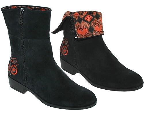 tienda de liquidación 415ea 7a82d Desigual - Botas de Piel para Mujer Negro Negro: Amazon.es ...