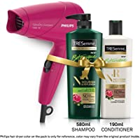 TRESemme Nourish & Replenish Shampoo 580ml & Conditioner 190ml Combo Pack + Philips Hair Dryer