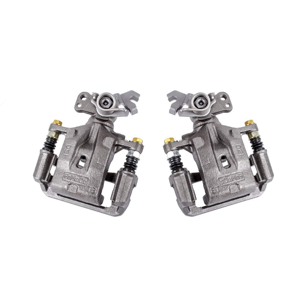 CCK02474 [ 2 ] REAR Premium Grade OE Semi-Loaded Caliper Assembly Pair Set Callahan Brake Parts