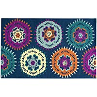 Rizzy Home PD538A Play Day Hand-Tufted Area Rug, Navy, 3 x 5