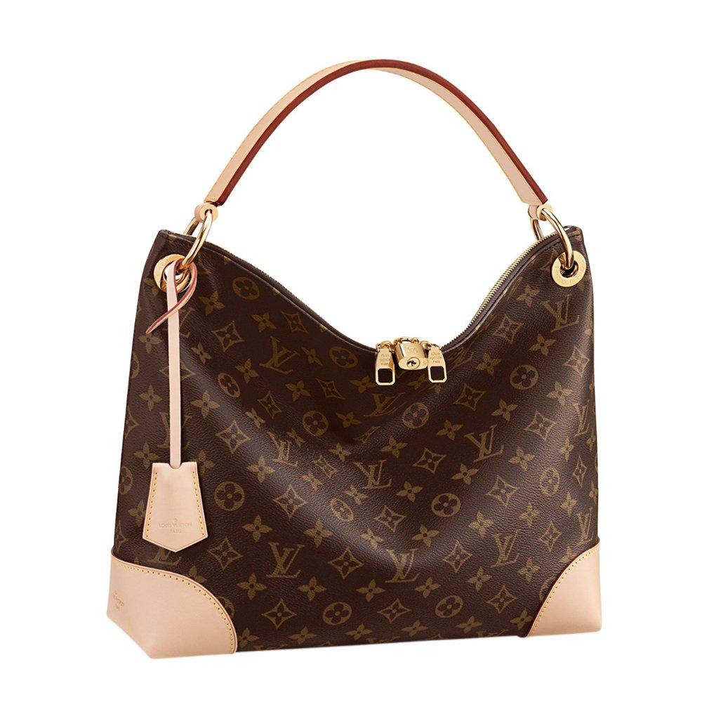 e54f9fe3b281 Amazon.com  Louis Vuitton Monogram Canvas Tote Berri PM Handbag Article   M41623 Made in France  Shoes