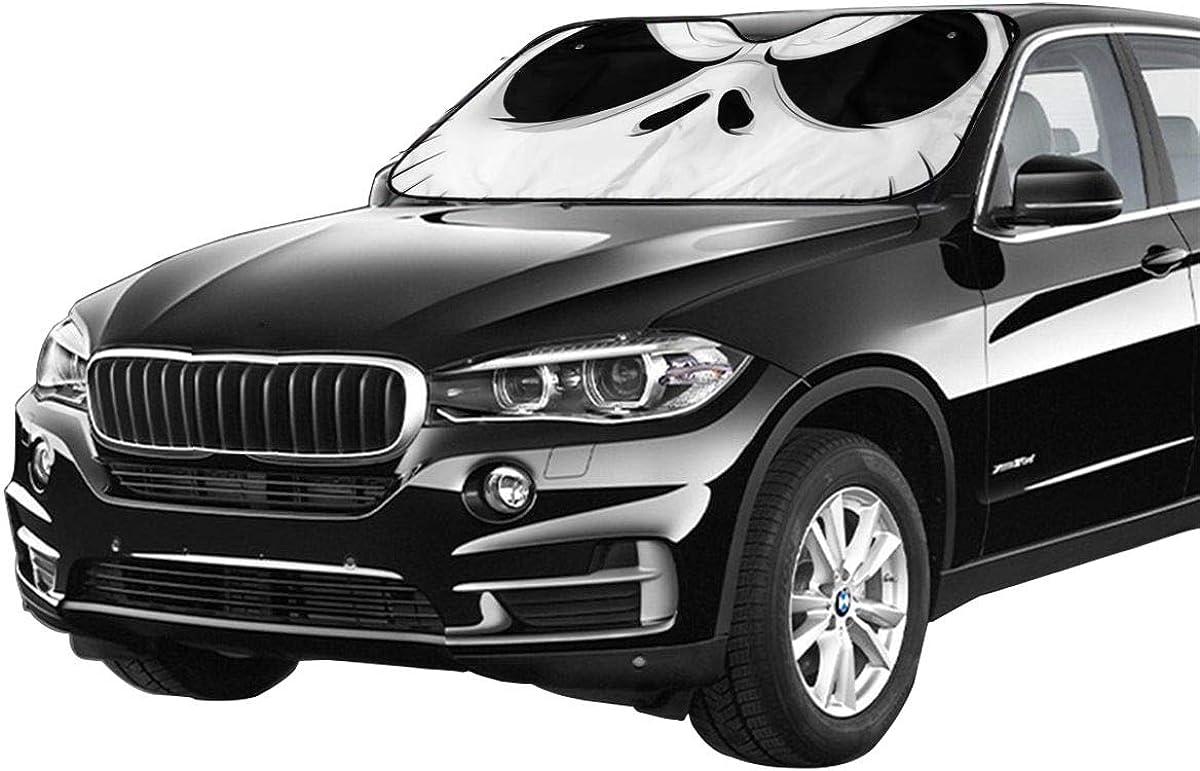 Bargburm Nightmare Before Christmas Car Windshield Sun Shade Vehicle Sunshade Front Windshield UV Protect 51.2 X 27.5