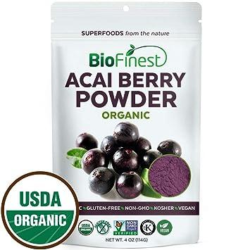 Biofinest Acai Berry Juice Powder - 100% Pure Freeze-Dried Antioxidant  Superfood - USDA
