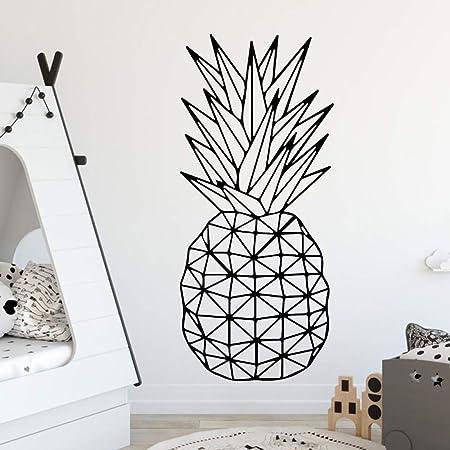 Patrón de piña diseño de frutas etiqueta de la pared para los ...