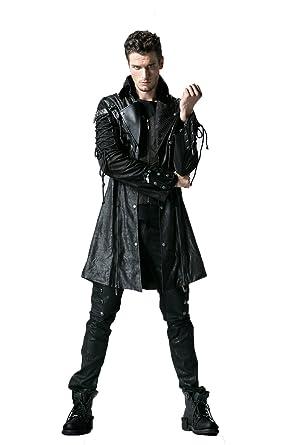 Devil Fashion Herren Gothic Frack Jacke Rot samt Schwarz Brokat Steampunk Vtg