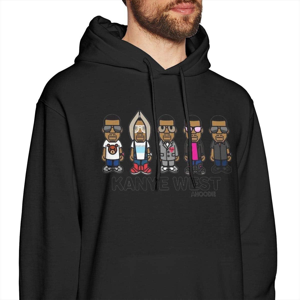 Mens Hooded Sweatshirt Kanye West New Classic Minimalist Style Black