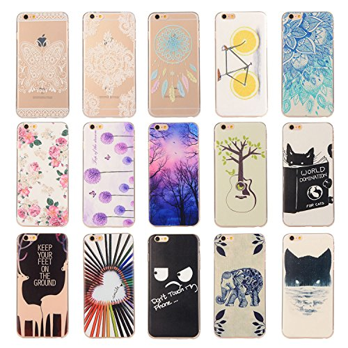 Für Apple iPhone 6 Plus / iPhone 6S Plus (5.5 Zoll) Hülle ZeWoo® TPU Schutzhülle Silikon Tasche Case Cover - YG008/ Dawn