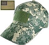 Ranger Return Tactical Military ACU Army Digital Camo Camouflage Baseball Adjustable Hat Cap with USA Flag Patch (Multitan) (TCAP-ACU-WUSA-MULT)