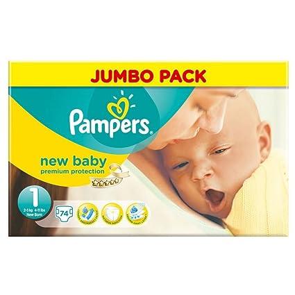 Pampers Nuevo Tamaño Del Bebé Recién Nacido 1 2-5Kg (74) (Paquete de ...