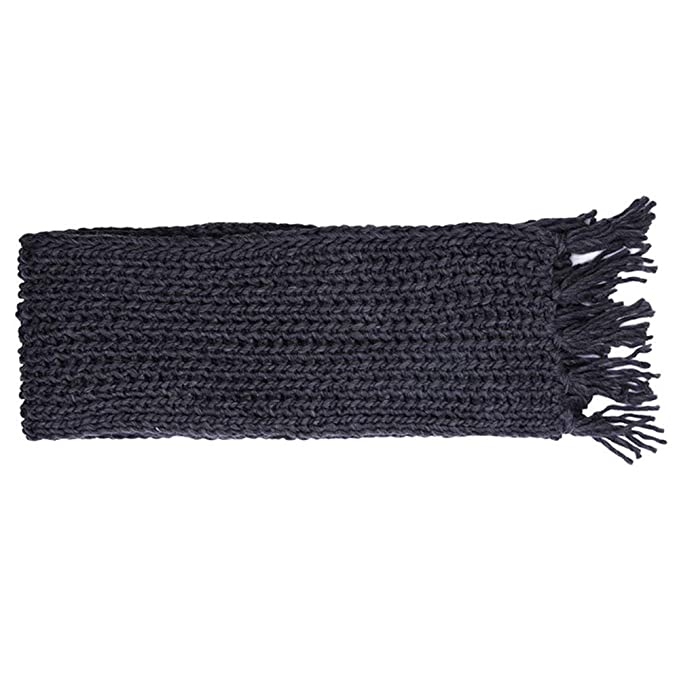 c33c7af82a0d0 ZFADDS Winter Scarf For Men/Women Acrylic Knitted Long Tassel Grey Thick  Warm Soft Unisex Scarf Female Echarpe Dark Grey Onesize at Amazon Men's  Clothing ...