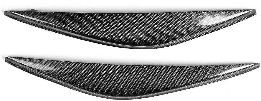 Qiilu 1 Pair Headlight Eyebrow Car Real Carbon Fiber Headlight Eyebrow Eyelid Trim for RX-8 2004-2008