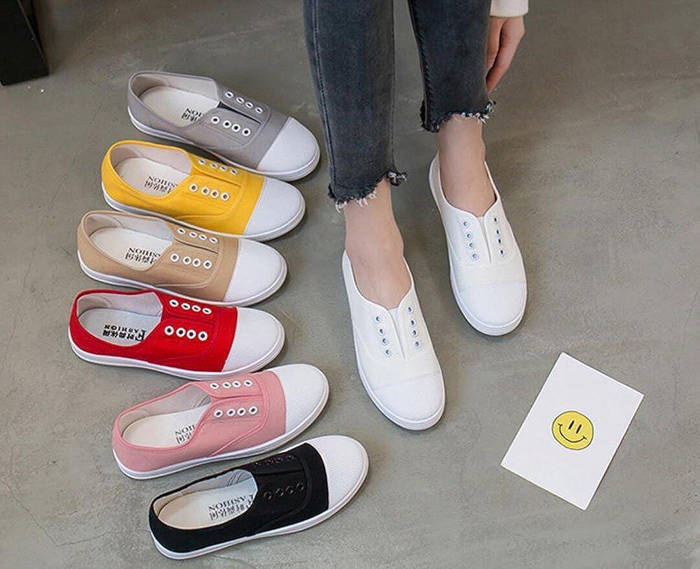 Rojeam Minimalisme Sneaker Casual Chaussures De Sport Pour Femmes Bas Textile 36-40 Blanc