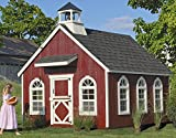 Little Cottage Company Stratford Schoolhouse DIY Playhouse Kit, 8\ x 12\