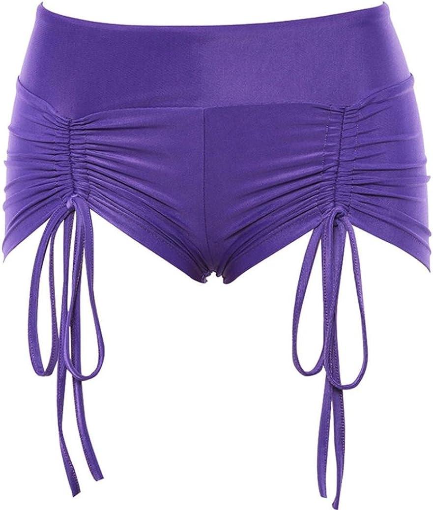 iTLOTL Summer Pants Women Sports Shorts Gym Workout Waistband Skinny Yoga Short Pants