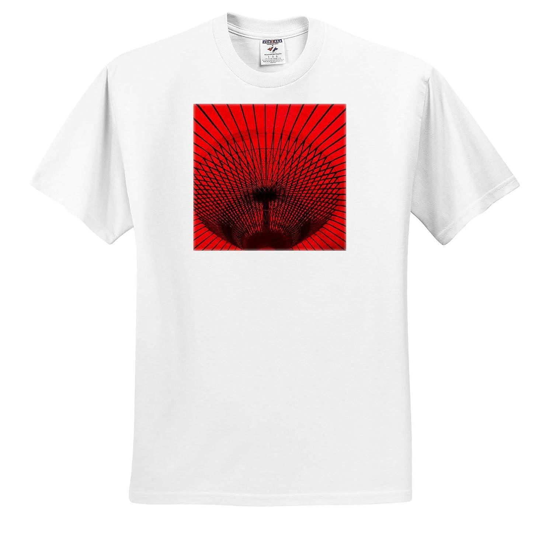 3dRose Danita Delimont Red Umbrella Gifu Prefecture Gifu Adult T-Shirt XL Abstracts ts/_312770 Japan