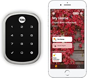 Yale Assure Lock SL - Key Free Smart Lock with Touchscreen Keypad - Works with Apple HomeKit and Siri (YRD256iM1619) in Satin Nickel