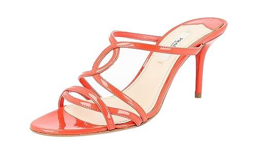 Prada - Mocasines para Mujer Rojo Coral: Amazon.es: Zapatos y complementos