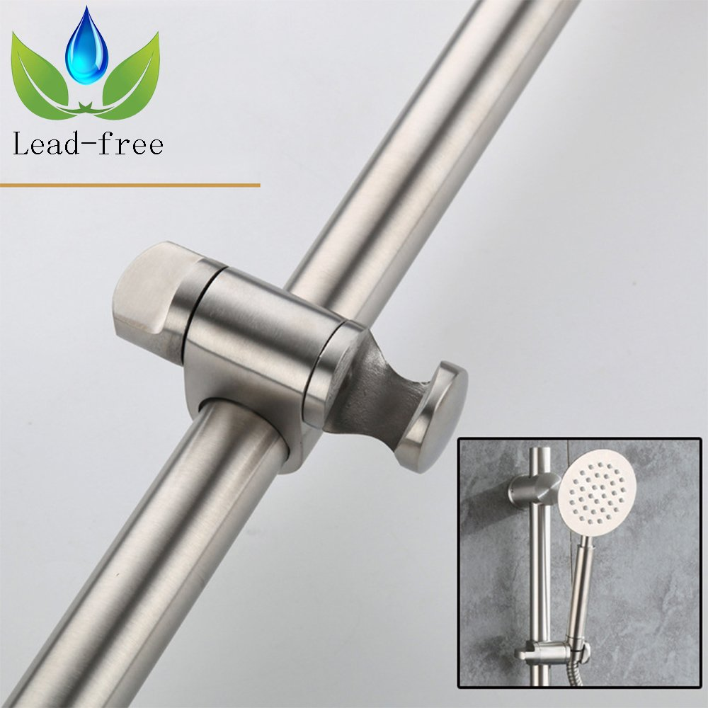 Neady Shower Slider Bar 26 Inch Stainless Steel Brushed Nickel Lead-Free Handheld Shower Heads' Assister Adjustable Shower Arms & Slide Bars Wall Mounting Hardware Showerhead Holder by Neady (Image #6)