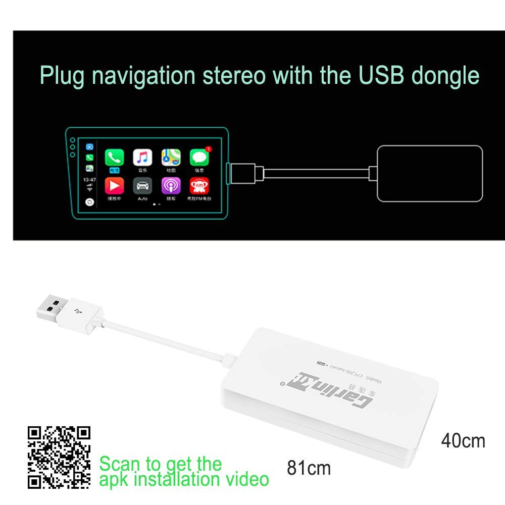 Carlinkit kabelloser USB Dongle Carplay Adapter mit Android Auto Apple Carplay Navigation sspiegelung f/ür Android Headunits