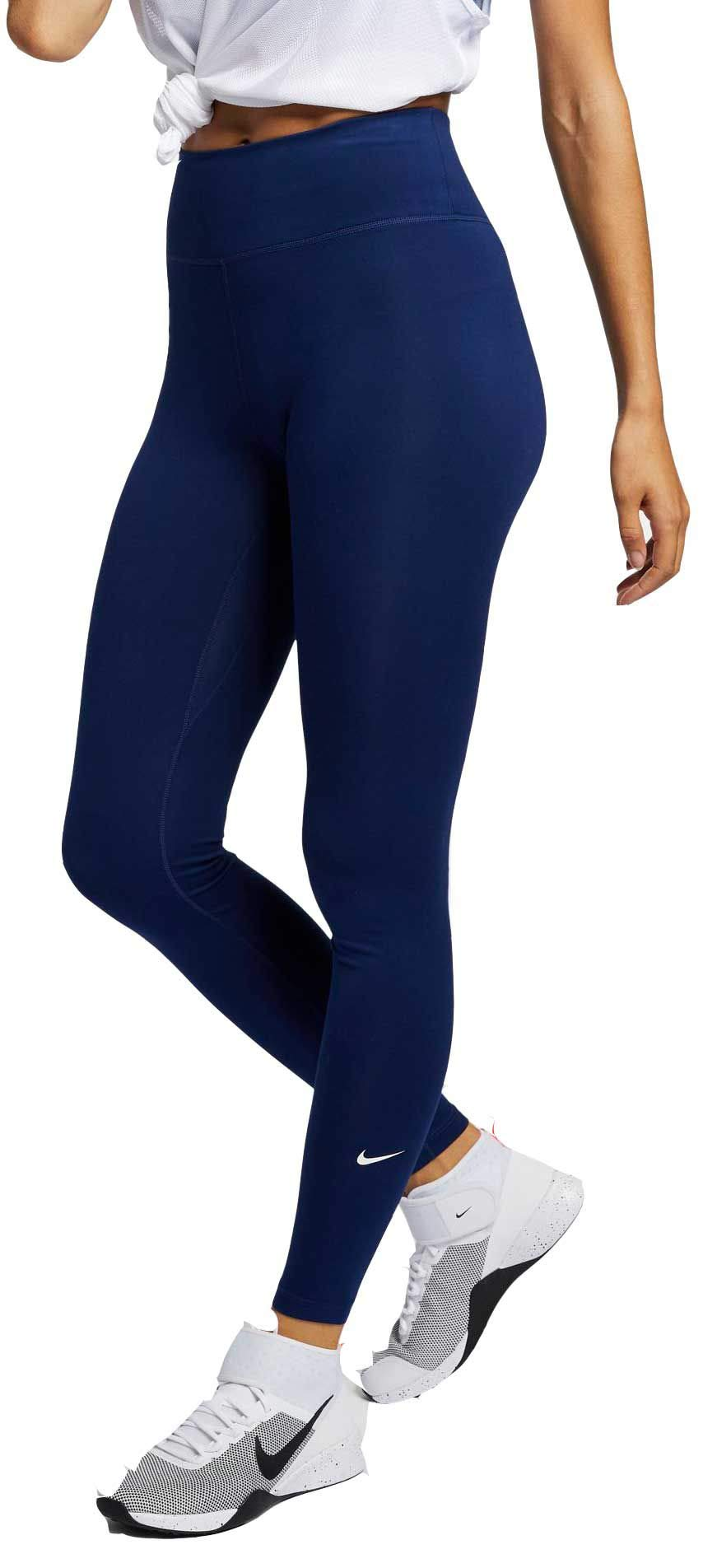 Nike Women's All-in Tight, Blue Void/White, X-Small