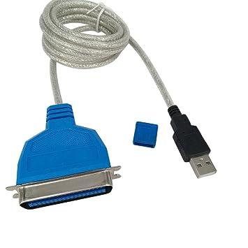 Adaptador Cable de USB a puerto paralelo 36 pines IEEE 1284 ...