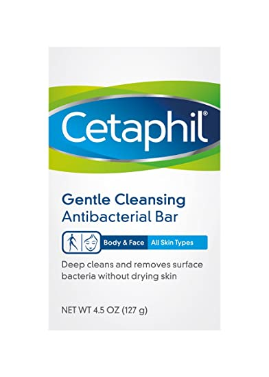 Cetaphil Deep Cleansing Bar, Body And Face, All Skin Types, 4.5 Oz Jergens All-Purpose Cream Face Moisturizer , 15oz