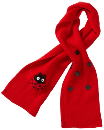 Kidorable Ladybug Knit Kids Scarf One Size Fits Most Soft Red Acrylic Knit Winter Scarf for Toddlers Little Kids Big Kids