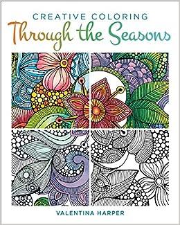Amazon Com Creative Coloring Through The Seasons Design Originals
